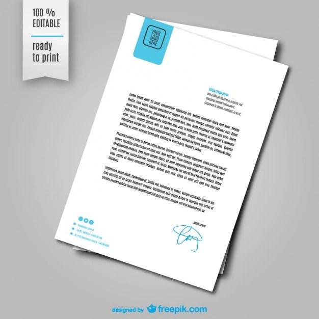 letter sheet template vector