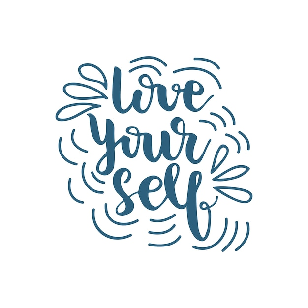 Download Lettering love yourself. vector illustration. Vector ...