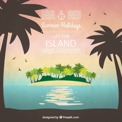 Life the island background Vector   Free Download