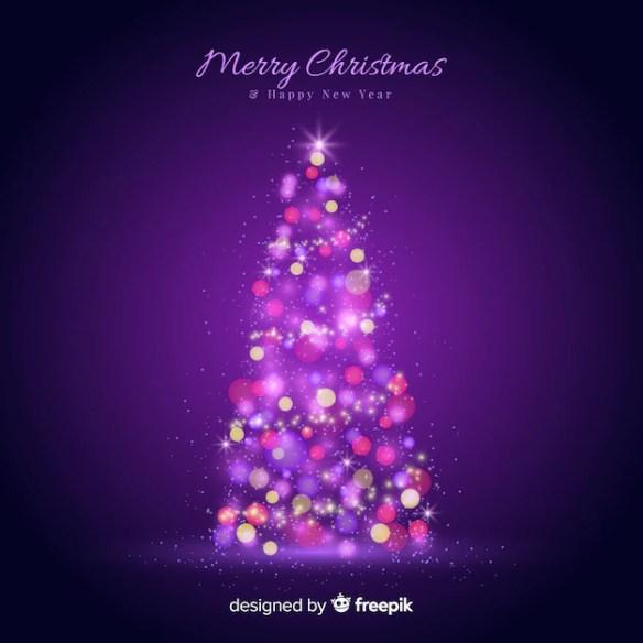 Light christmas tree Free Vector
