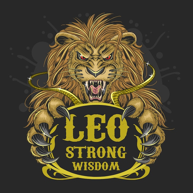 lion leo zodiac gold