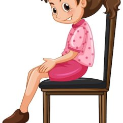 Little Girl Chairs Football Helmet Chair Sitting On Big Vector Free Download