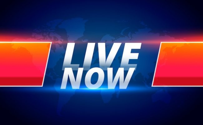 Live Now Streaming News Background Free Vector