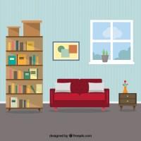 Living room interior Vector   Premium Download