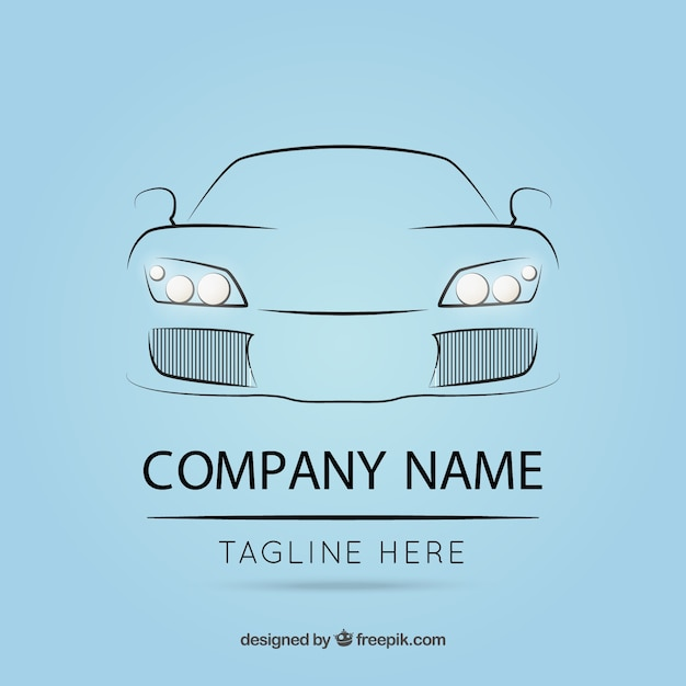 logo template with car