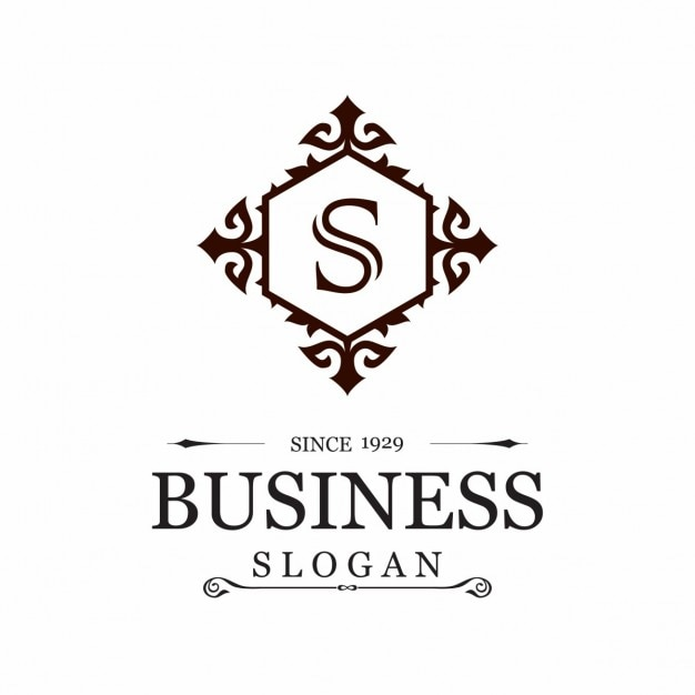 Logo with an ornamental frame and the letter s Vector