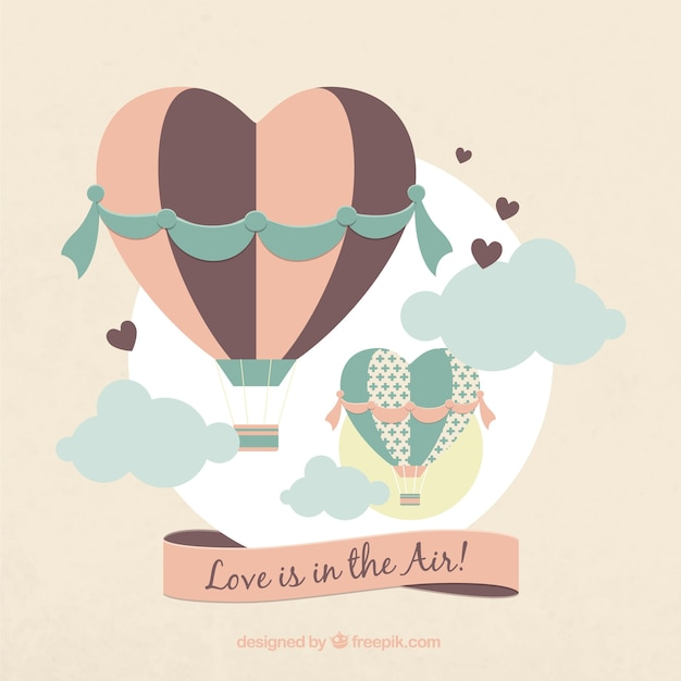 Love is in the air Vector   Free Download