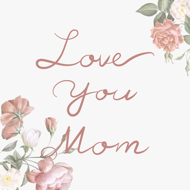 Download Love you mom lettering Vector | Free Download