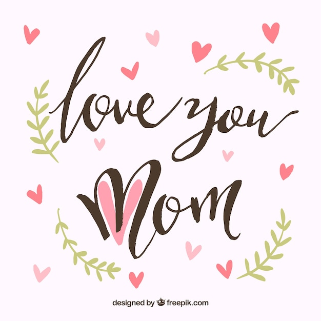 Download Love you mom Vector | Free Download