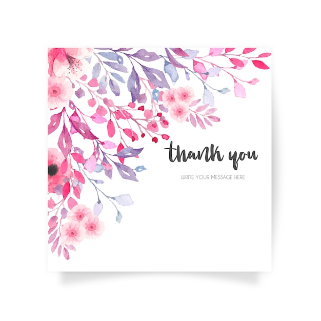 lovely floral card with