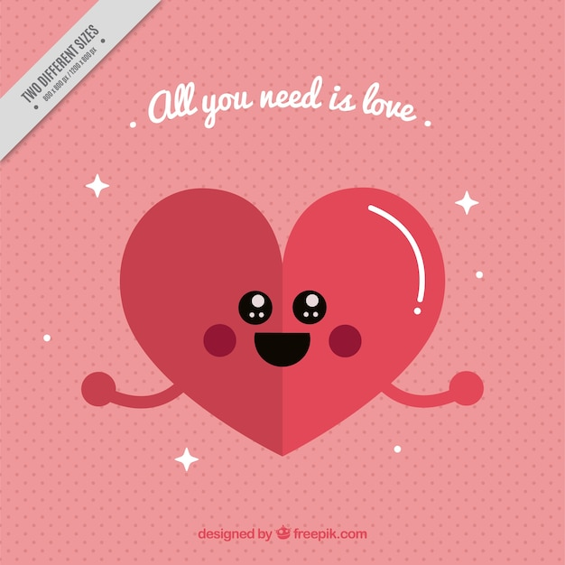lovely heart background with