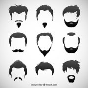 man hairstyles vector free