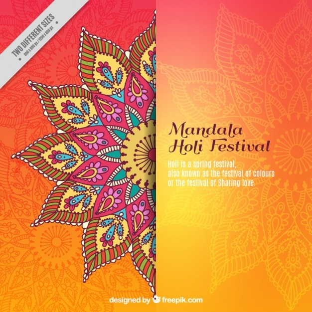 Mandala Holi Festival Background