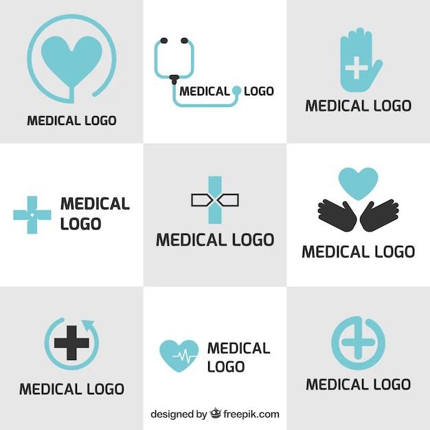 Medical logo templates in flat design Vector  Free Download