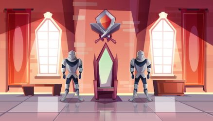 throne castle medieval room cartoon king interior royal vector ballroom knights museum armor palace kings thrones game illustration both cash