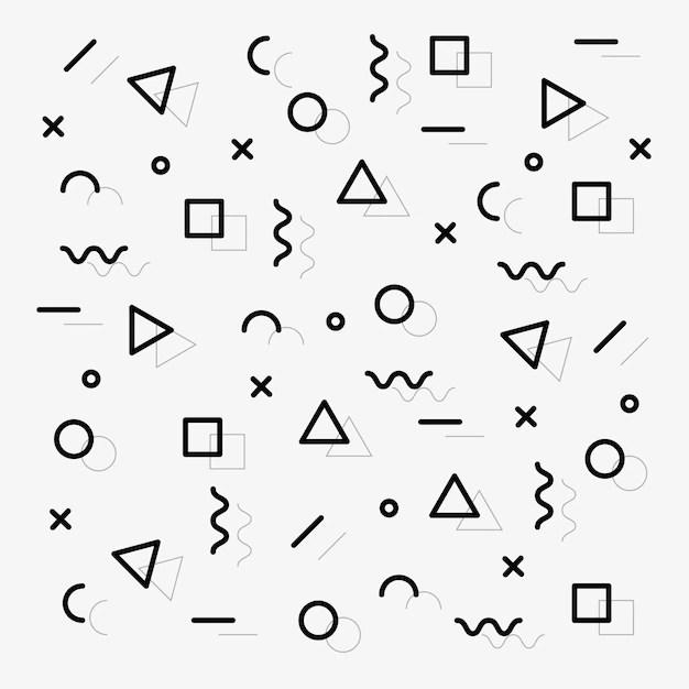 memphis pattern vector free