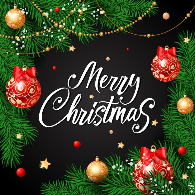 merry christmas calligraphy with