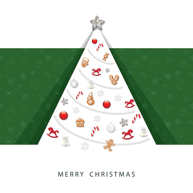 merry christmas card 3d