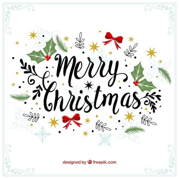 merry christmas decorative vintage