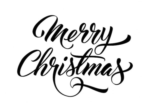 christmas font vectors