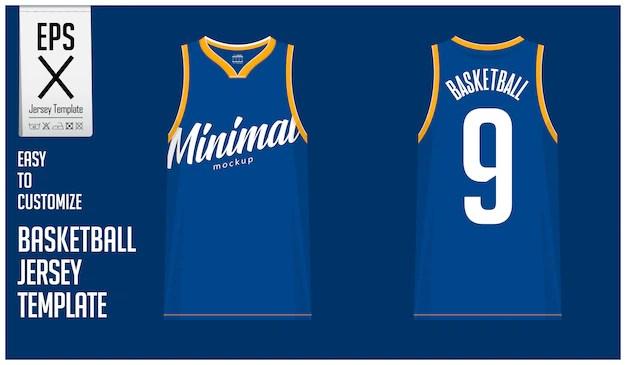 Download Minimal basketball jersey template design | Premium Vector