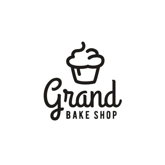 Minimalist Cupcake Bakery Logo Design Inspiration Vector Premium