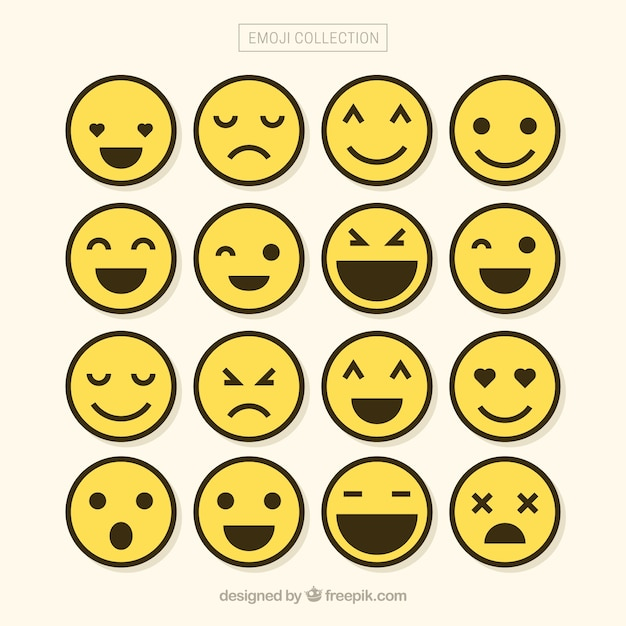 minimalist set of emojis