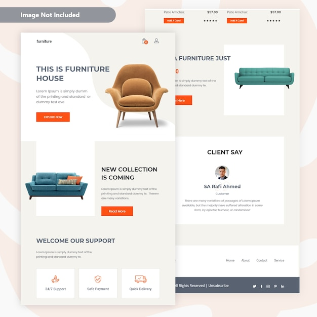 See more ideas about real estate,. Premium Vector Modern Furniture Sale Email Template Design