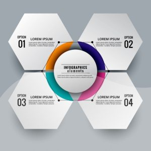 Modern infographic diagram hexagonal shaped Vector | Free