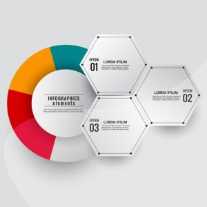 Modern infographic diagram with colored circle Vector