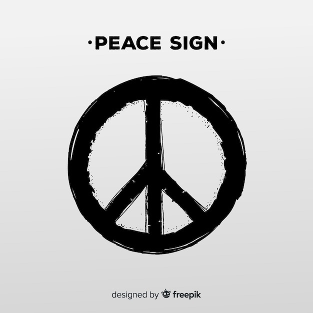 modern peace symbol with