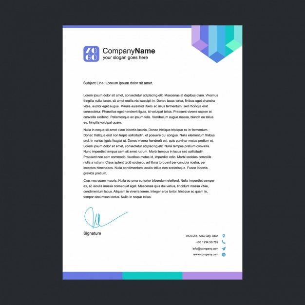 letterhead template free downloading