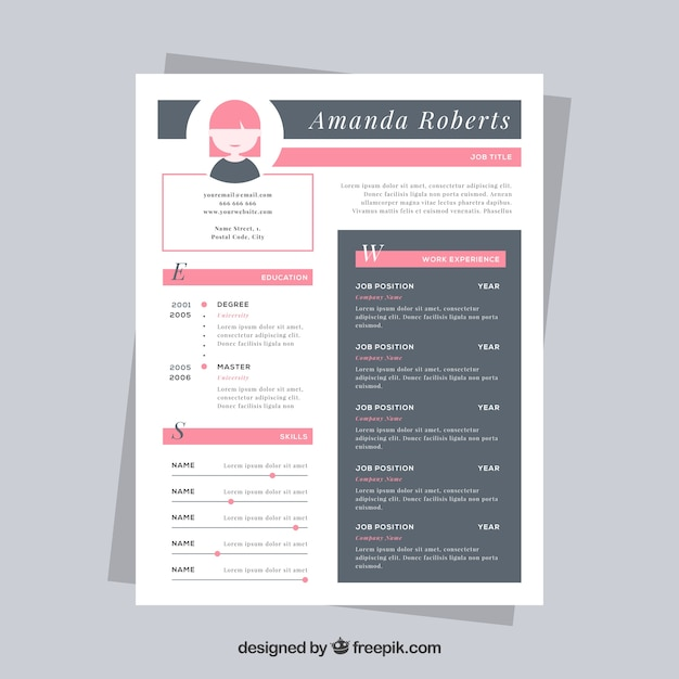Nice resume template Vector  Free Download