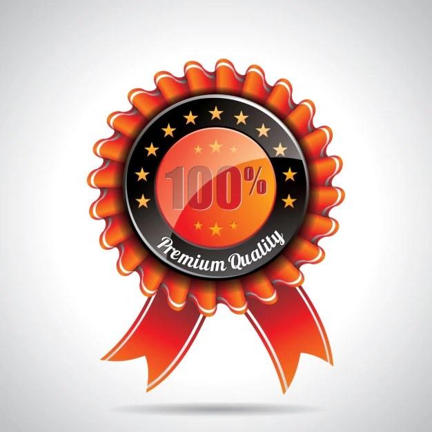orange badge design vector