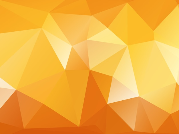 Orange Polygon Background Vector Free Download