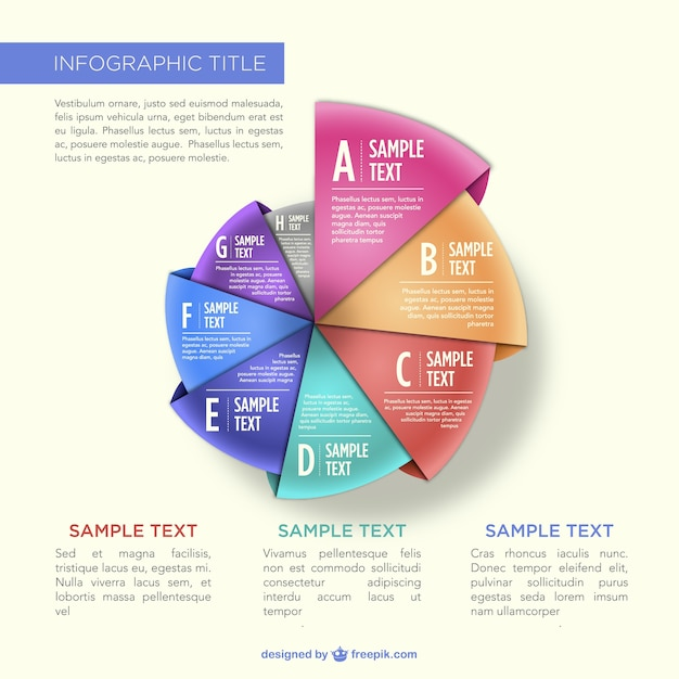 Demo also origami pie chart infographic vector free download rh freepik