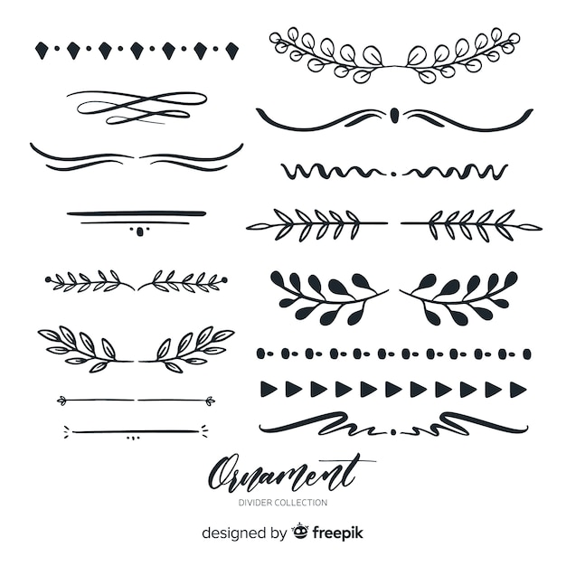 ornament divider collection vector