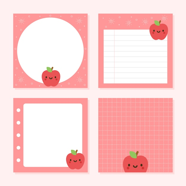 pack of notepad cute