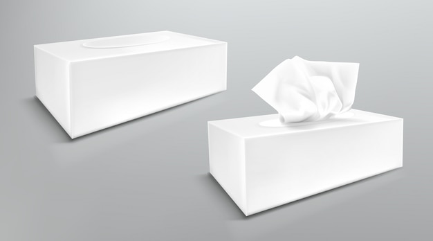 Download Paper napkin box mockup, close and open blank packages ...