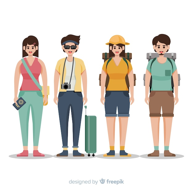 People going on a trip background Vector | Free Download
