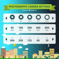Photography camera settings Vector   Free Download