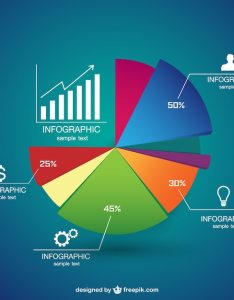 Pie chart infographic free vector also download rh freepik