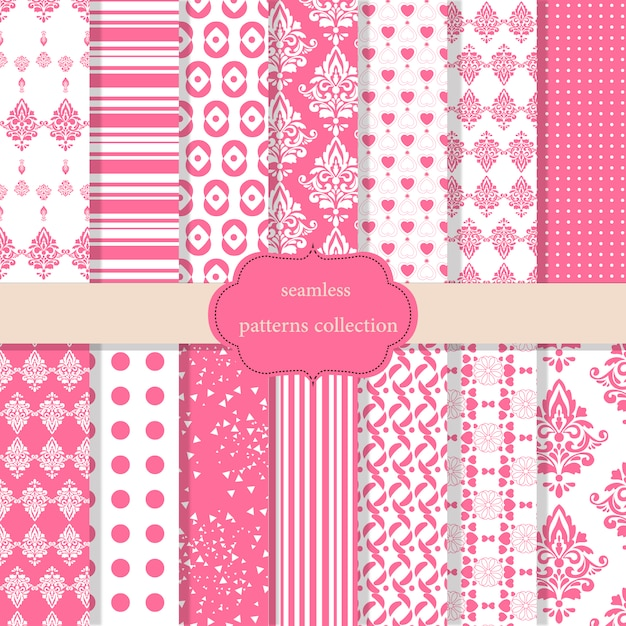 Baby Girl Nursery Flower Wallpaper Pink Patterns Collection Vector Free Download