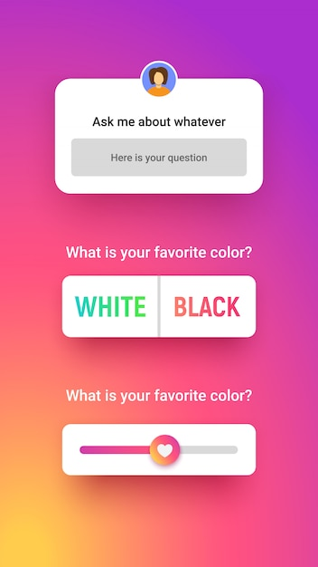 42 word instagram highlight covers psd template 100 logo mockup. Premium Vector Poll Window In 3 Different Style Answer Input Chose Option And Slider Storie Quiz For Social Media