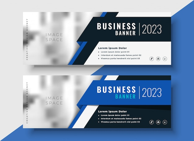 professional blue business banners