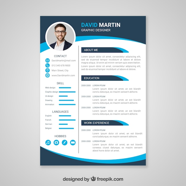 resume templates psd freepik