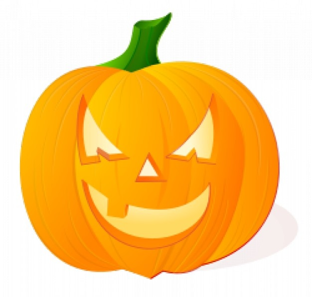 pumpkin with angry face