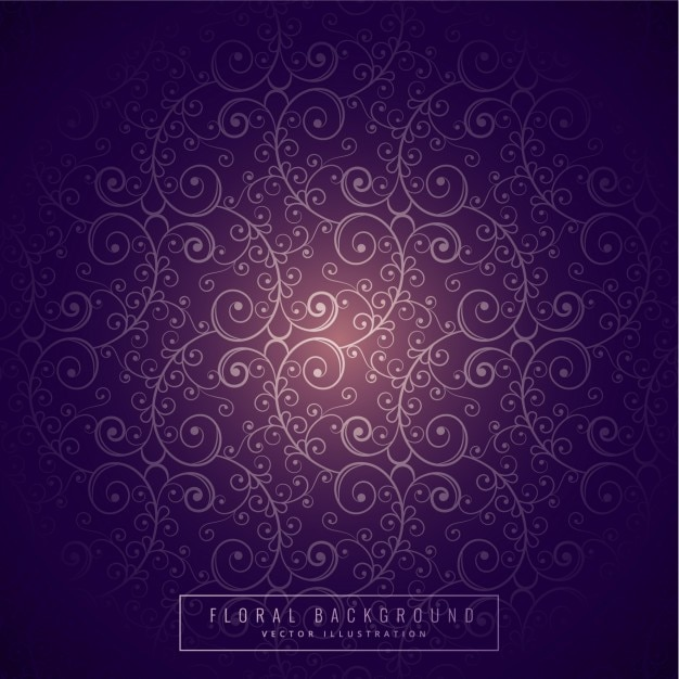 Purple Floral Background Vector  Free Download