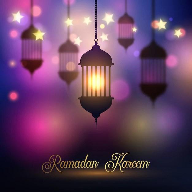 Theme Go 3d Wallpaper Ramadan Kareem Background With Hanging Lanterns Vector