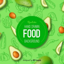 Free Vector Realistic food background